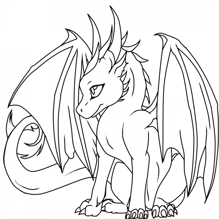 coloring pages of cute dragons cute dragon with bird on his tail coloring page free coloring cute pages of dragons