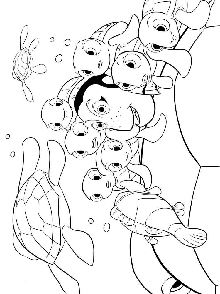 coloring pages of finding nemo coloring pages for kids free printable of coloring pages
