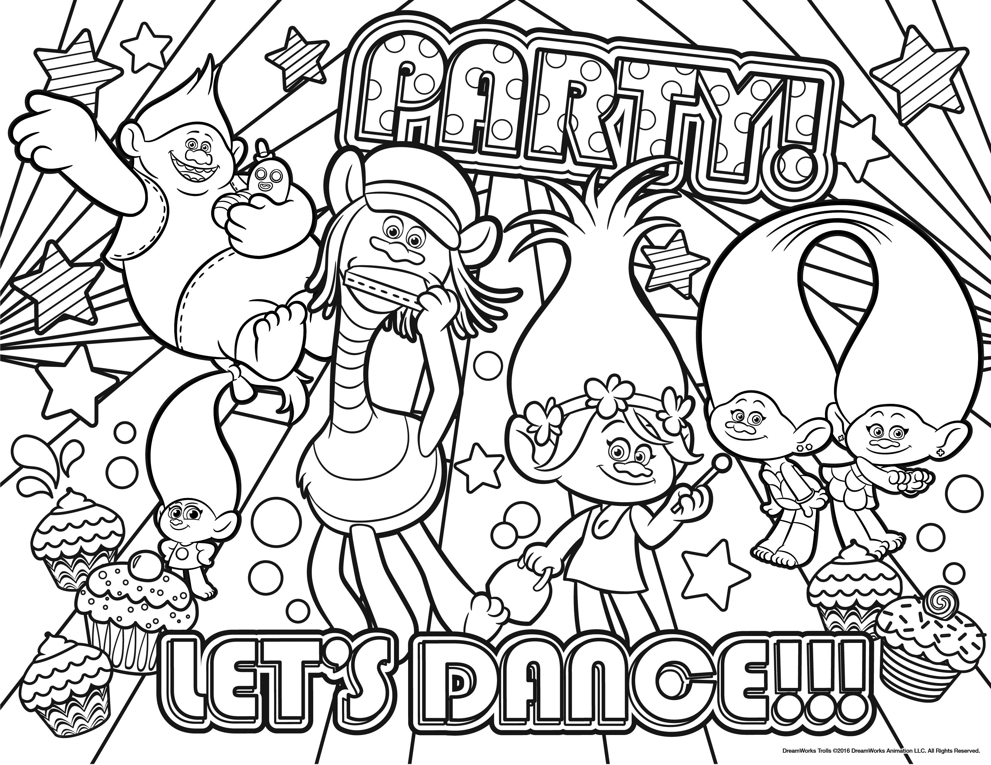 coloring pages of free printable trolls coloring pages free printable of coloring pages