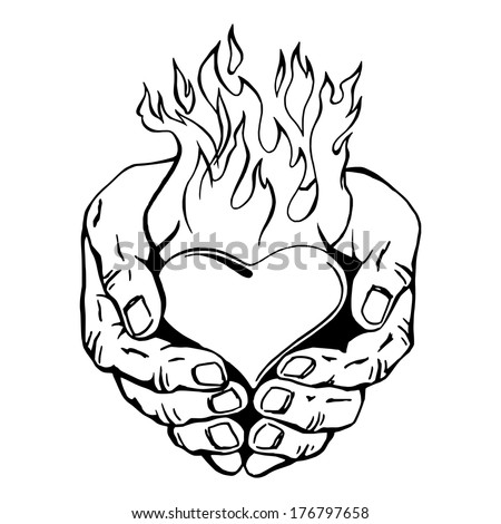 coloring pages of hearts with flames flames background clipart free download on clipartmag coloring of with hearts pages flames