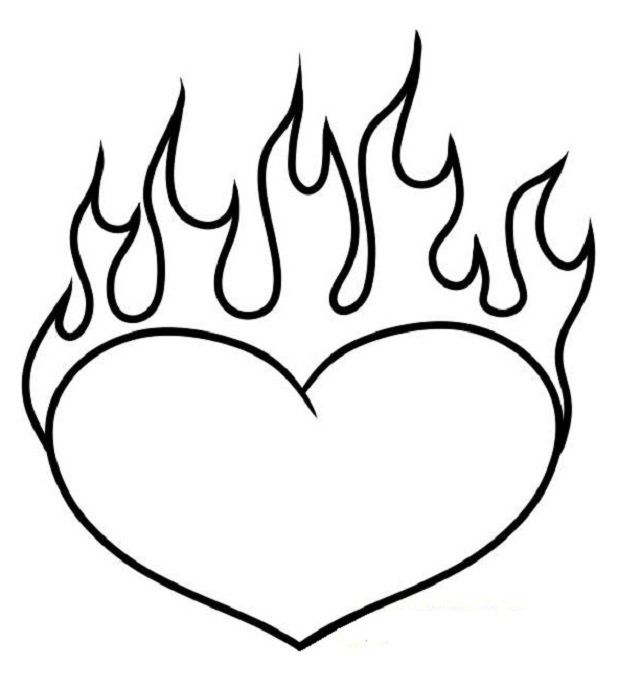 coloring pages of hearts with flames heart with flames 8 pics of coloring pages of hearts with hearts with of pages flames coloring