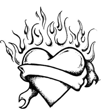 coloring pages of hearts with flames heart with flames pages free printable coloring pages coloring flames hearts of with pages