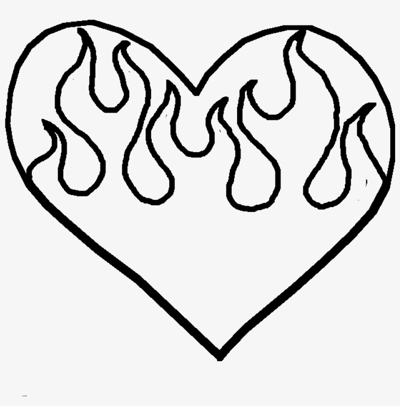 coloring pages of hearts with flames hearts on fire coloring pages at getcoloringscom free pages of hearts flames with coloring