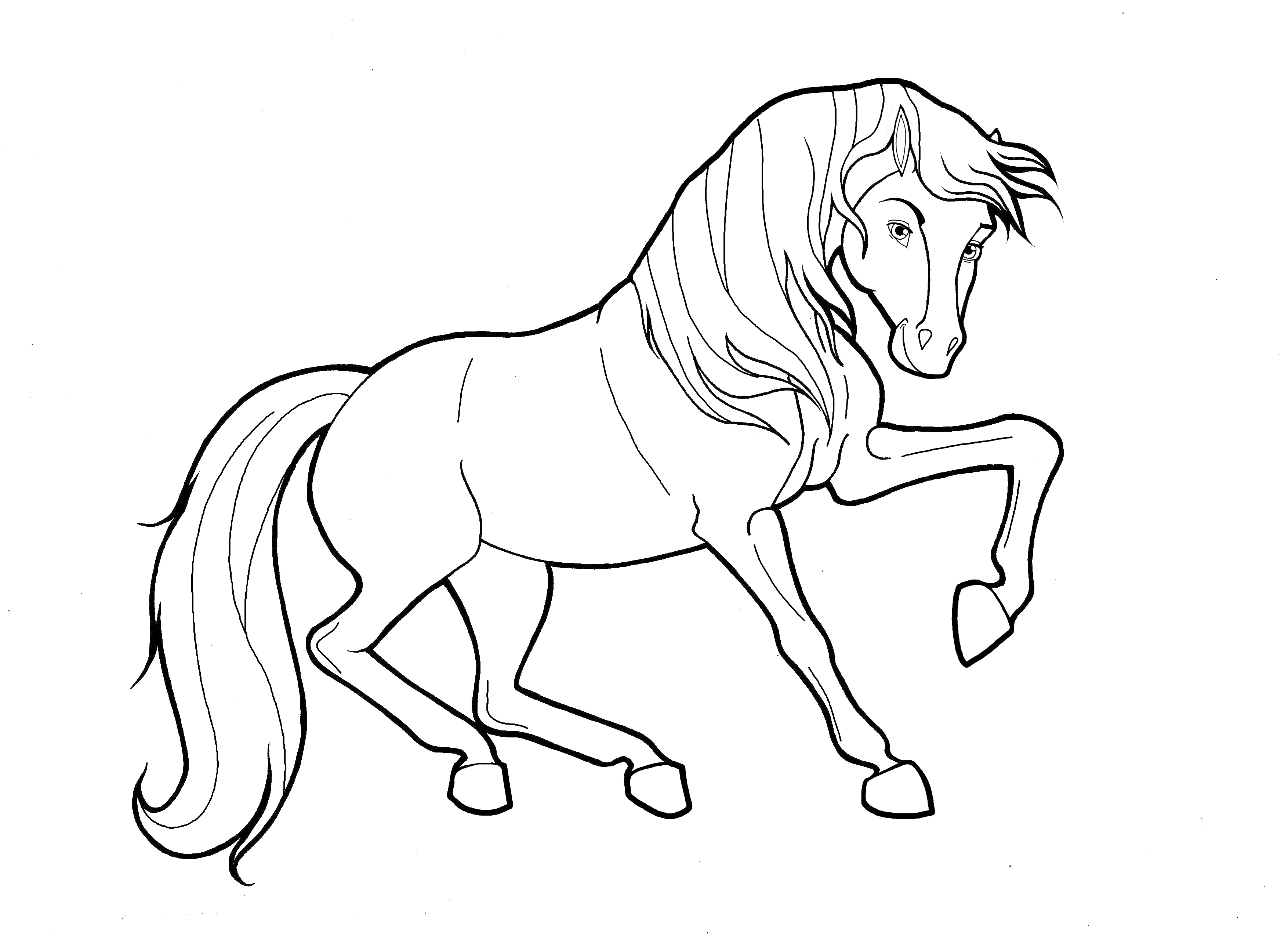 Coloring pages of horses to print
