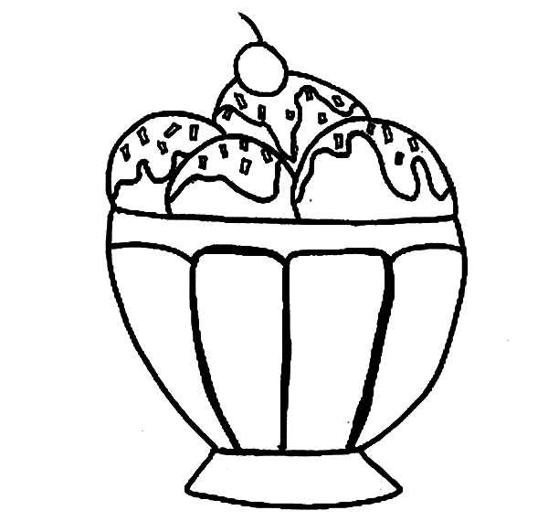 coloring pages of ice cream sundaes ice cream sundae coloring page clipart panda free coloring of cream sundaes ice pages