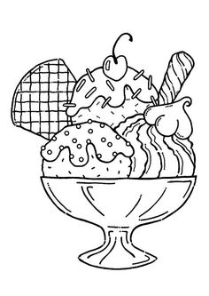 coloring pages of ice cream sundaes ice cream sundae coloring page coloring home pages cream ice sundaes coloring of