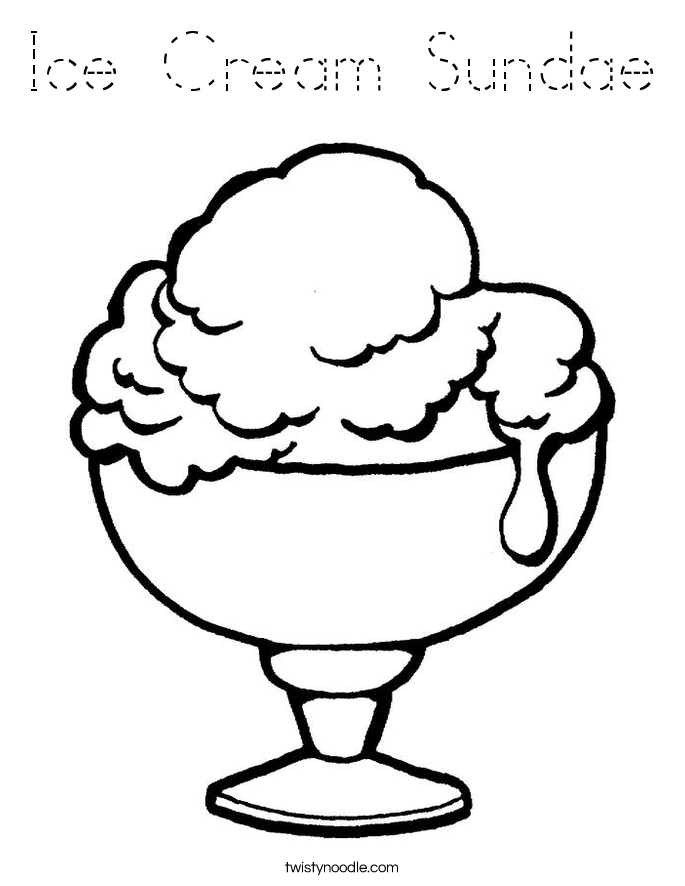coloring pages of ice cream sundaes ice cream sundae coloring pages coloring home of pages cream coloring sundaes ice