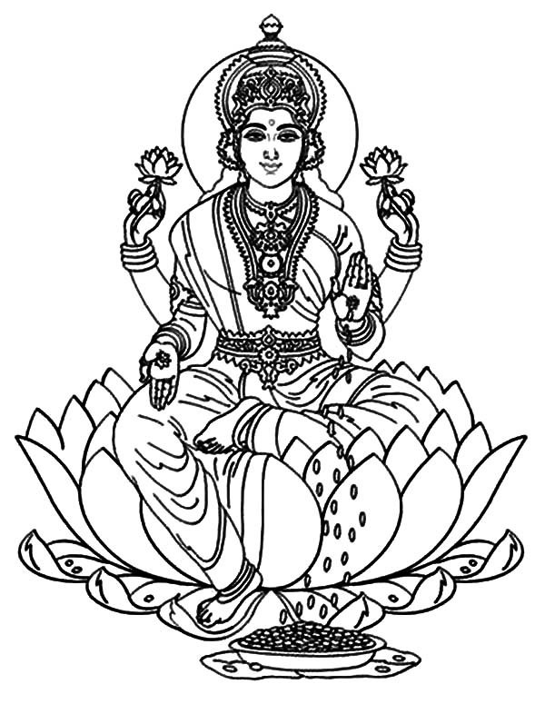 Coloring pages of krishna
