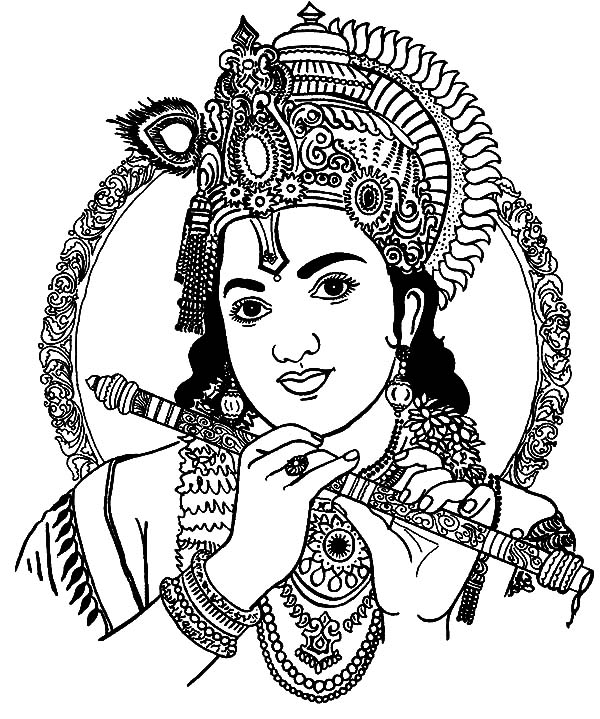 coloring pages of krishna baby krishna drawing picture pages of coloring krishna
