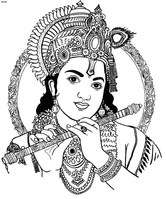 coloring pages of krishna httpwww4to40comimagescoloringbookkrishnawithhis pages coloring of krishna