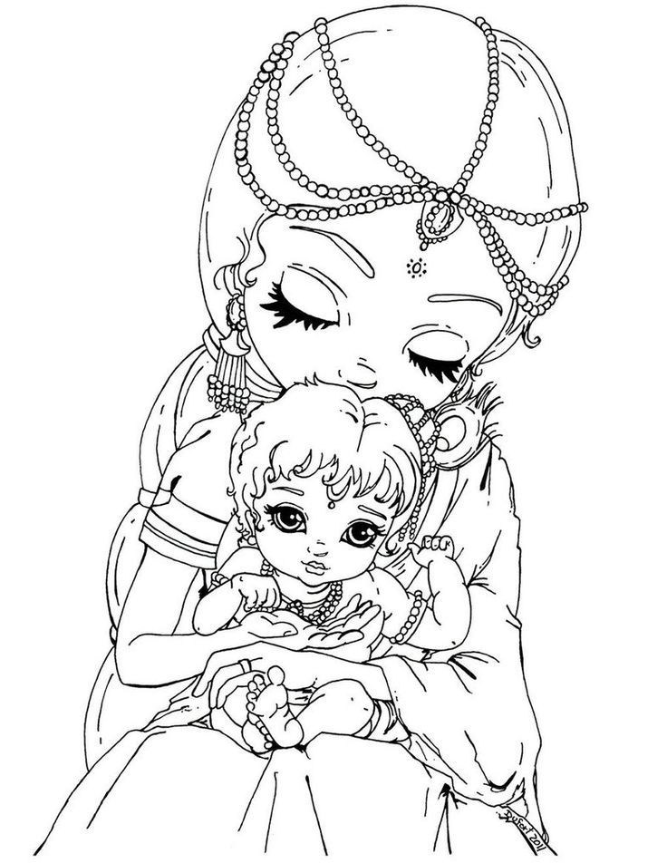 coloring pages of krishna krishna coloring google search colorful drawings coloring pages of krishna