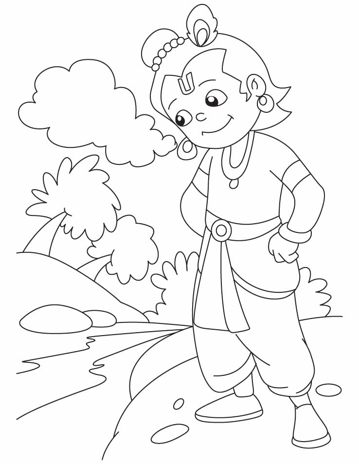 coloring pages of krishna krishna coloring page coloring home pages krishna coloring of