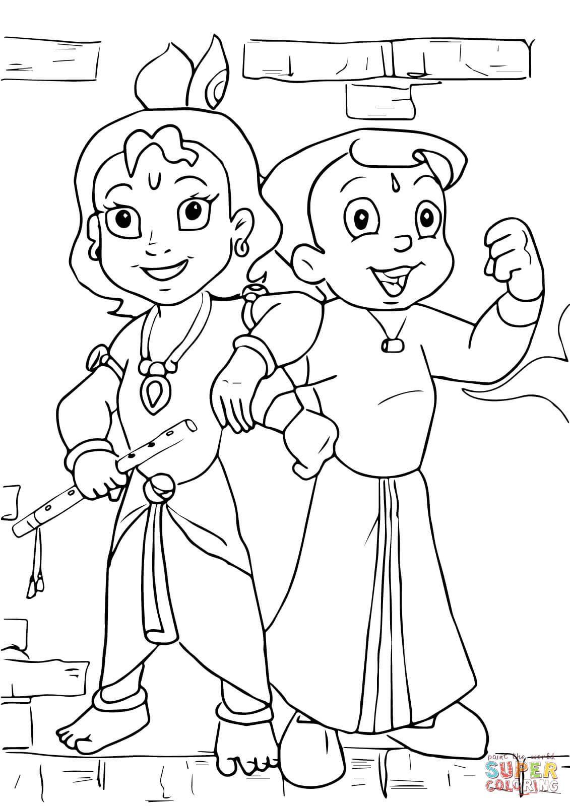 coloring pages of krishna krishna play his flute while radha is dancing coloring krishna coloring of pages