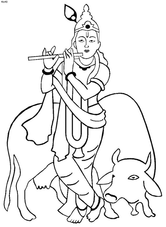 coloring pages of krishna shri krishna janmashtami coloring printable pages for kids krishna of coloring pages