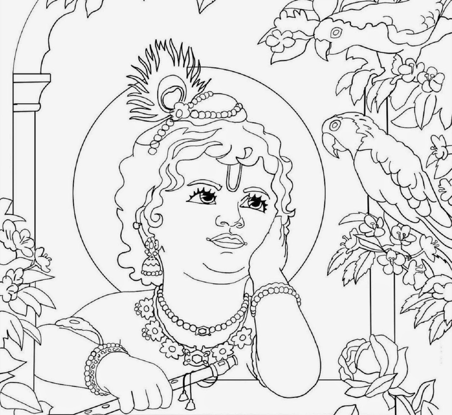 coloring pages of krishna the best free krishna drawing images download from 478 of pages krishna coloring