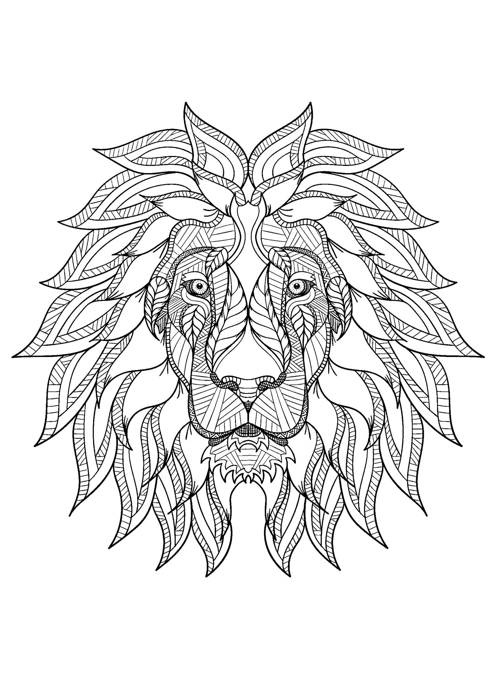 coloring pages of lion fantasy lion printable adult coloring page from favoreads coloring pages of lion