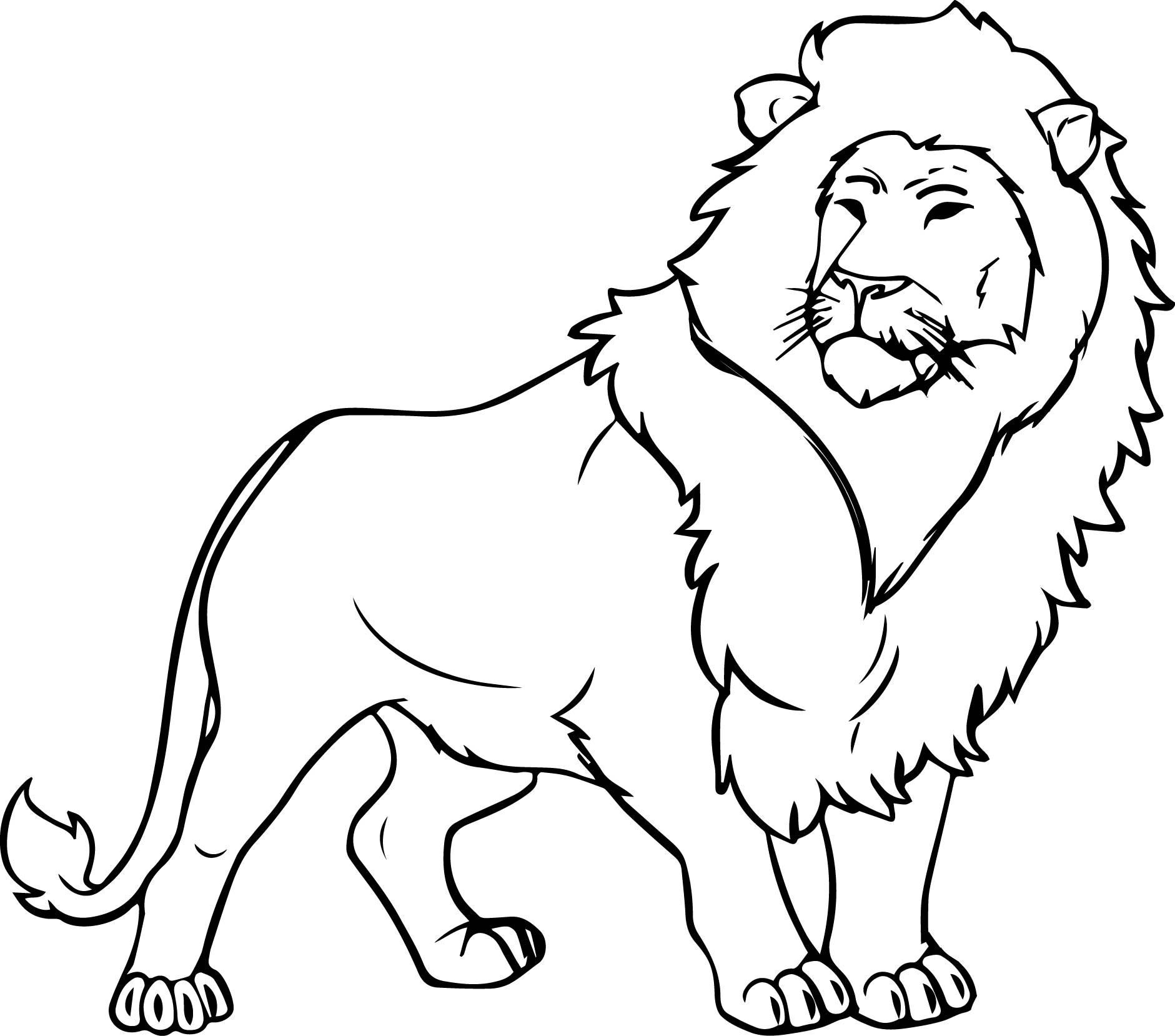 coloring pages of lion lion color drawing at getdrawings free download pages coloring of lion