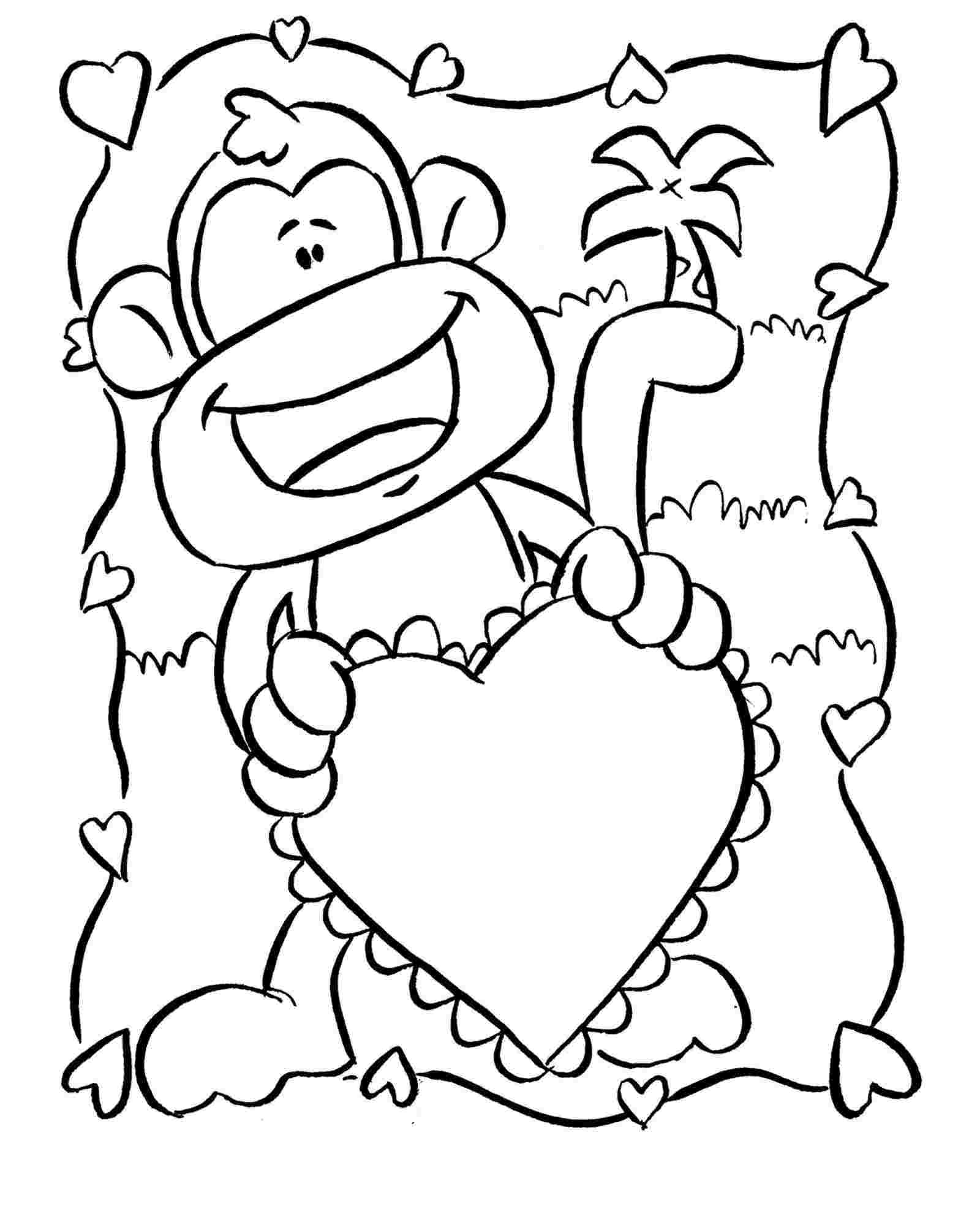 coloring pages of monkey cartoon monkey drawing at getdrawings free download monkey of pages coloring