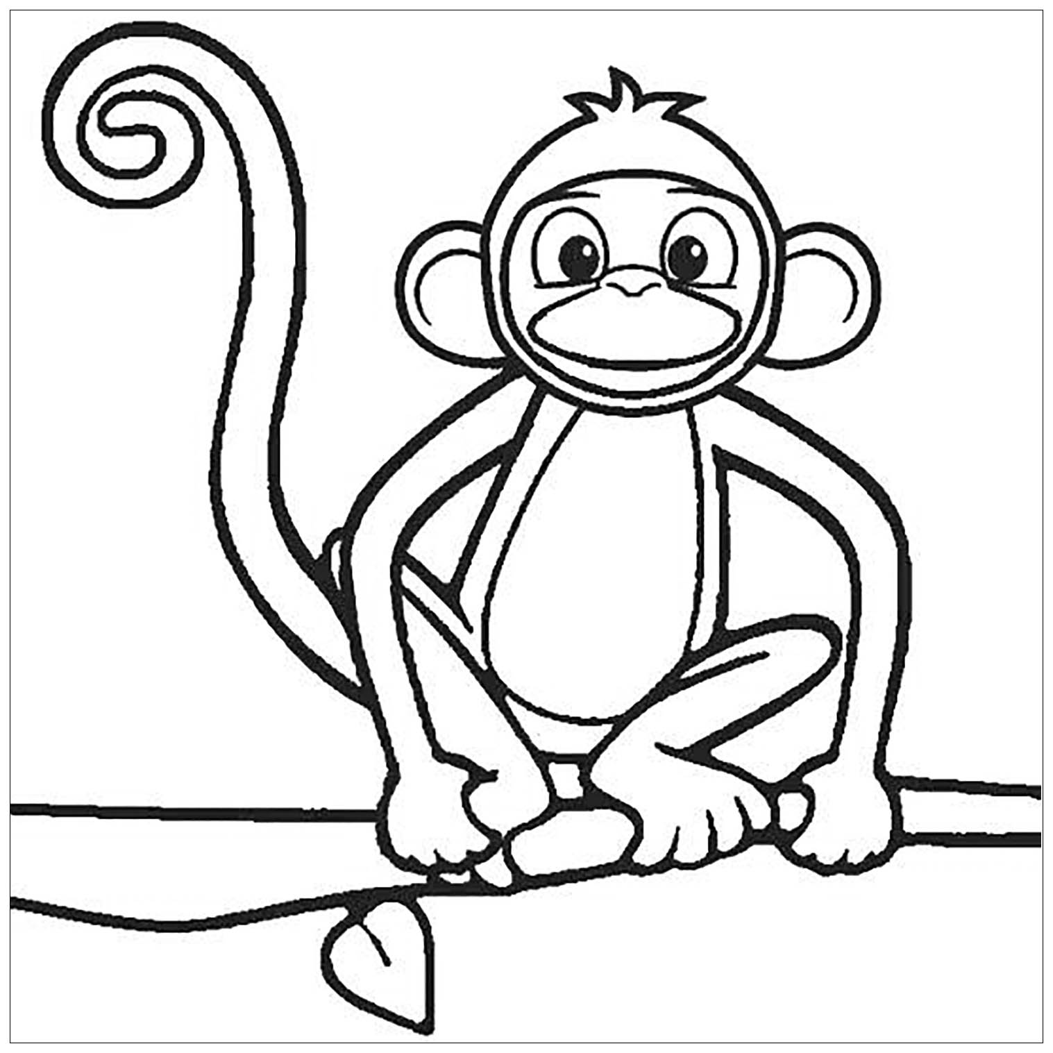 coloring pages of monkey cute coloring pages getcoloringpagescom of pages monkey coloring