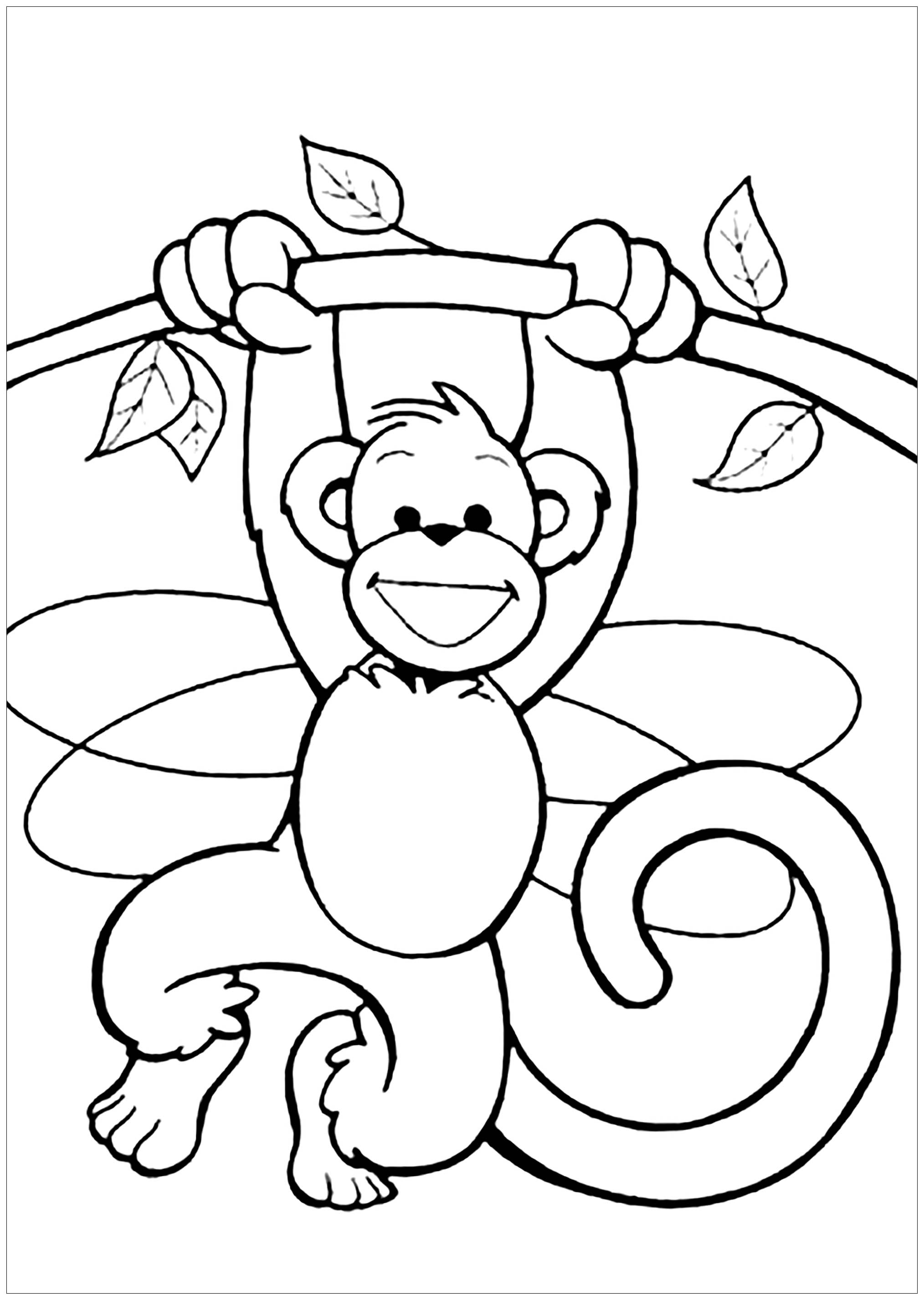 coloring pages of monkey cute monkeys coloring pages getcoloringpagescom coloring pages of monkey