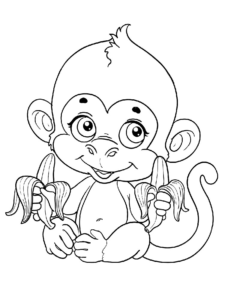 coloring pages of monkey monkey coloring pages download and print monkey coloring coloring pages of monkey