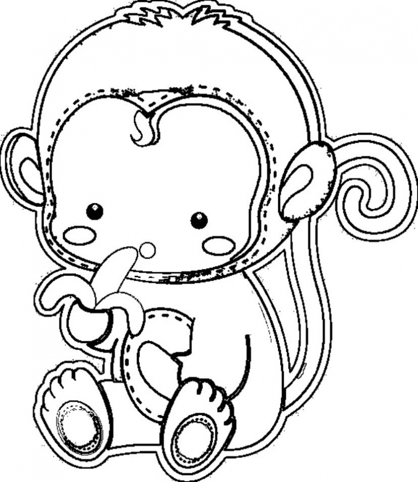coloring pages of monkey monkeys drawing at getdrawings free download monkey pages of coloring