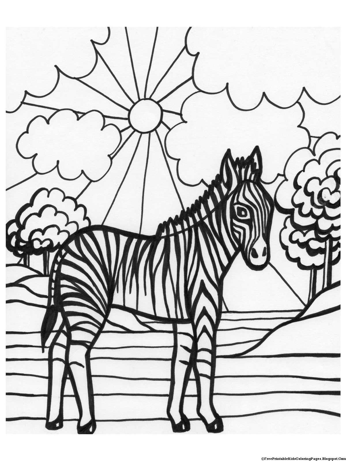 coloring pages of zebra coloring pages free printable kids coloring pages coloring of pages 1 1