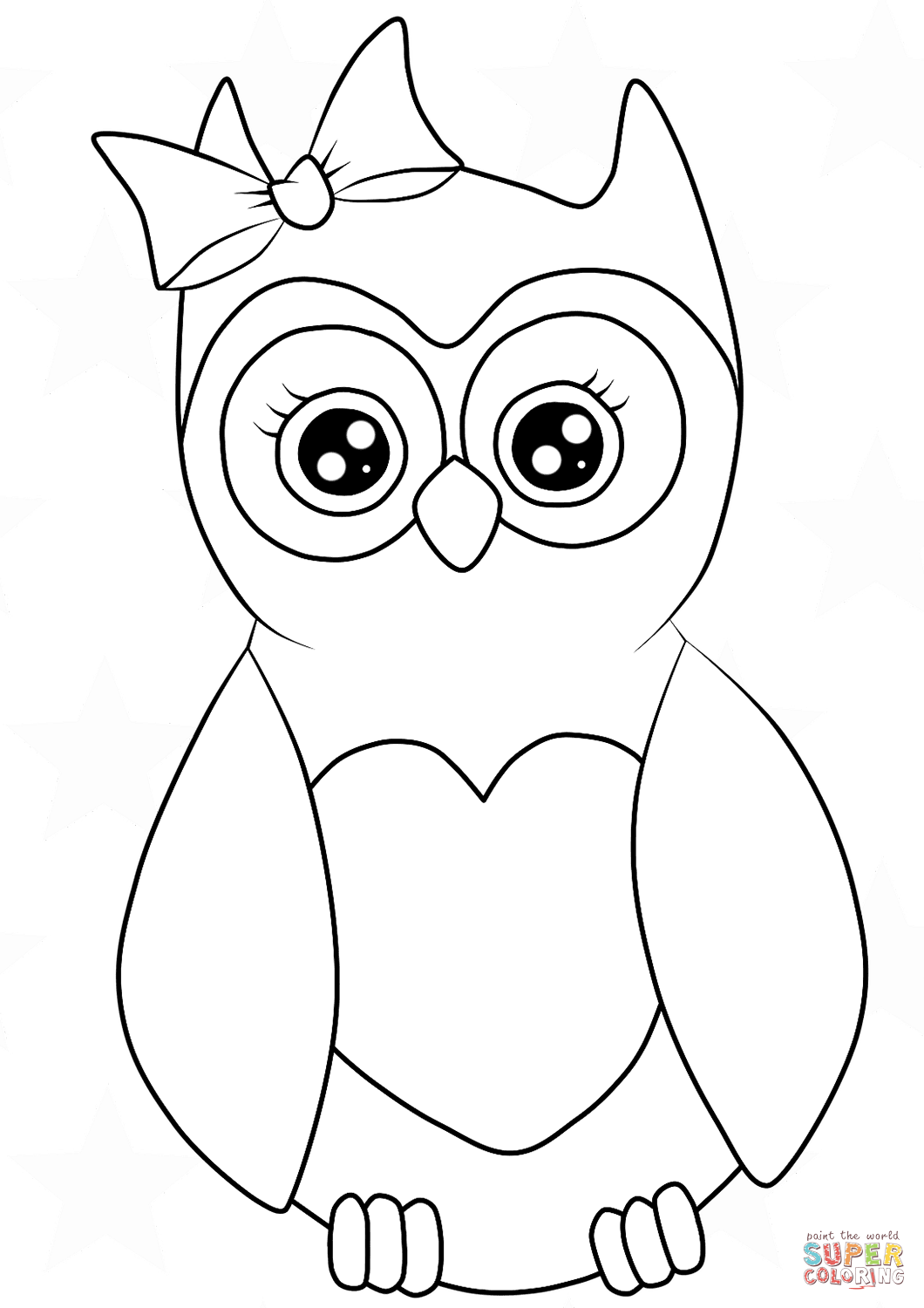 coloring pages owls cutest cartoon owl coloring page free printable coloring pages owls coloring