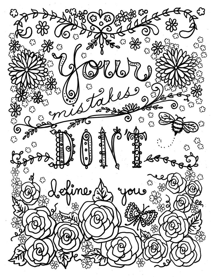 coloring pages quotes for adults quote coloring pages from doodle art alley with images coloring pages adults quotes for