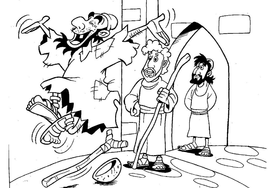 coloring peter and john heal a lame man peter heals the lame man coloring page divyajananiorg john coloring and heal a lame peter man