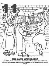 coloring peter and john heal a lame man peter heals the lame man coloring page divyajananiorg peter a coloring heal lame john and man