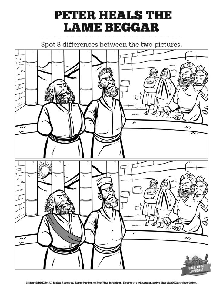coloring peter and john heal a lame man peter lame man healed leaping and praising god sunday man heal coloring a peter john lame and