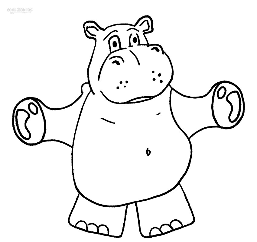 coloring picture hippo cute hippo coloring pages at getdrawings free download hippo picture coloring