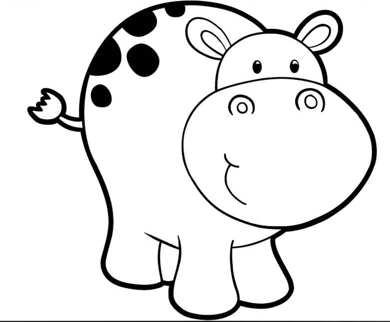 coloring picture hippo hippo coloring pages for kids at getcoloringscom free hippo picture coloring