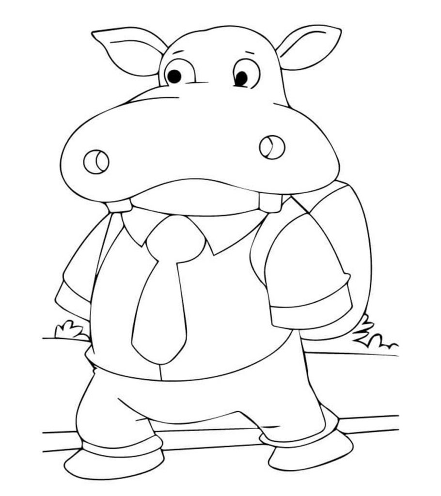 coloring picture hippo hippopotamus coloring pages at getcoloringscom free picture coloring hippo