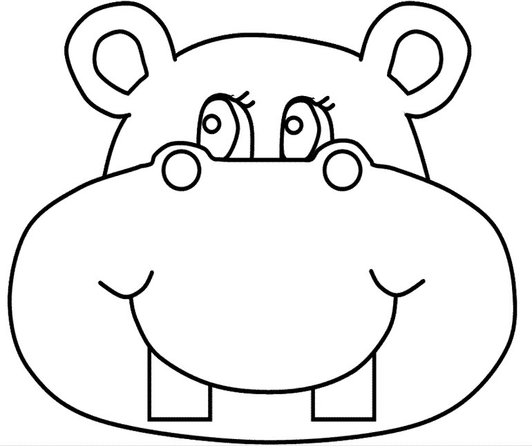 coloring picture hippo printable hippo coloring pages for kids hippo coloring picture