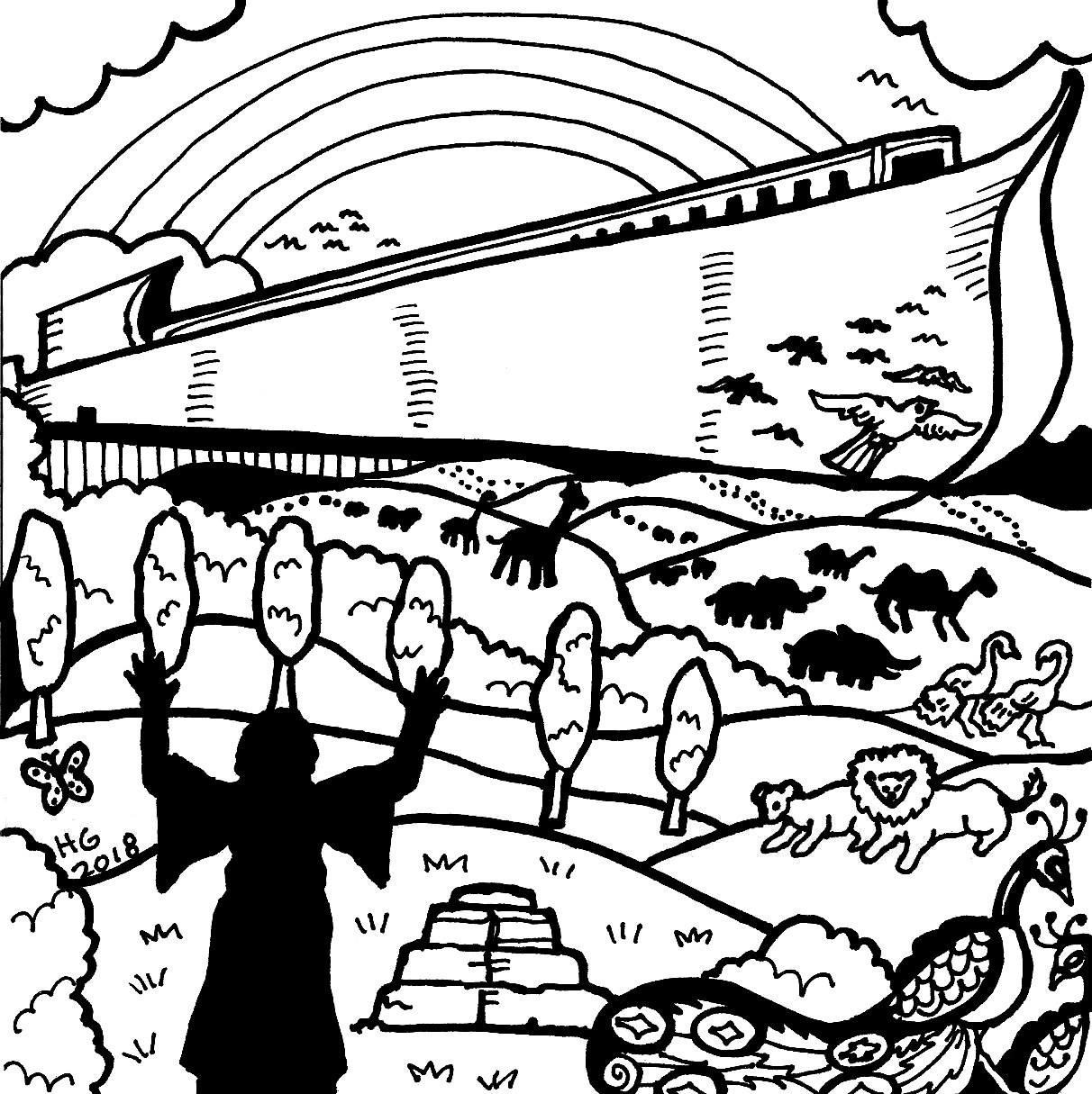 coloring picture noah noah and the flood coloring pages at getcoloringscom picture noah coloring