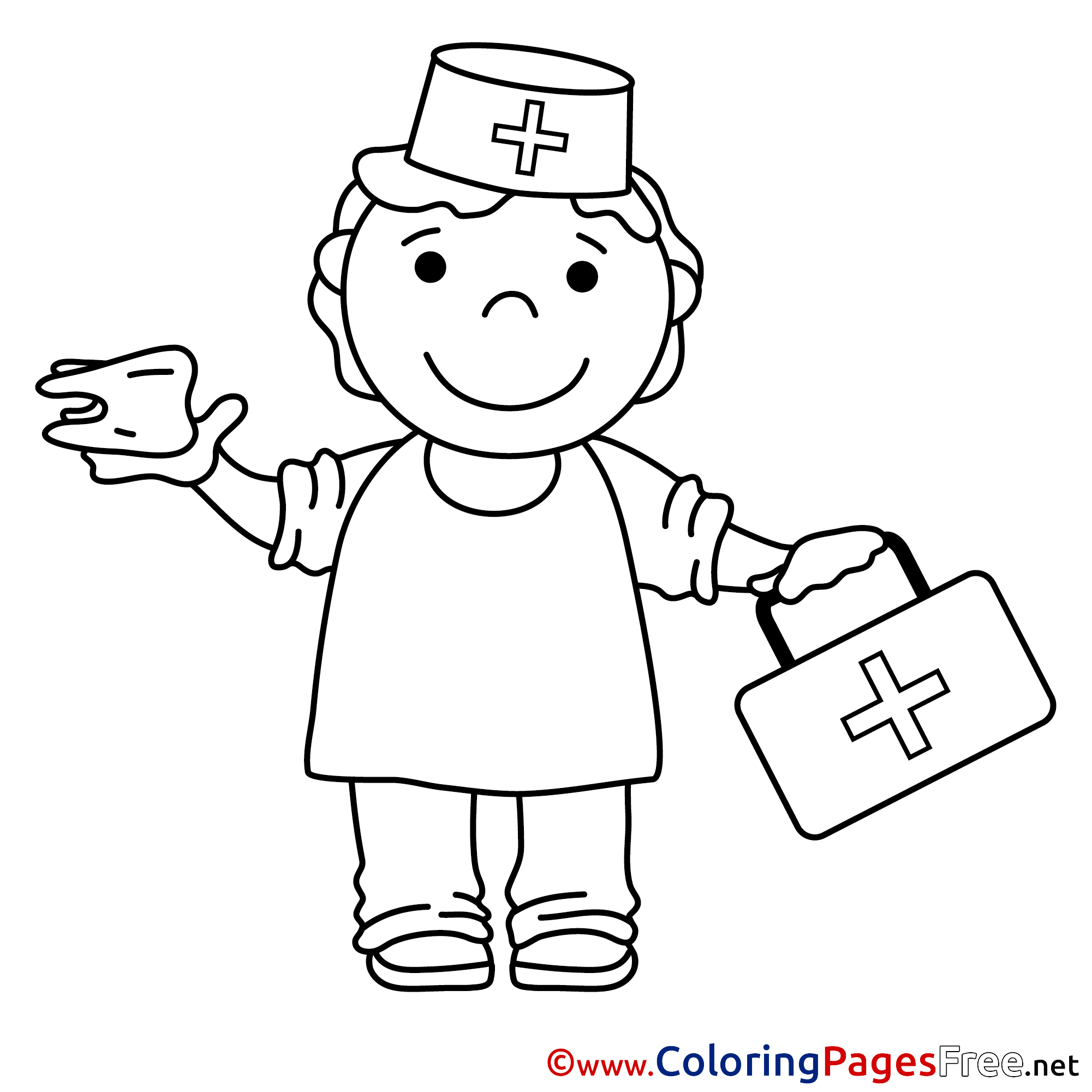 coloring picture nurse nurse coloring pages to download and print for free coloring nurse picture