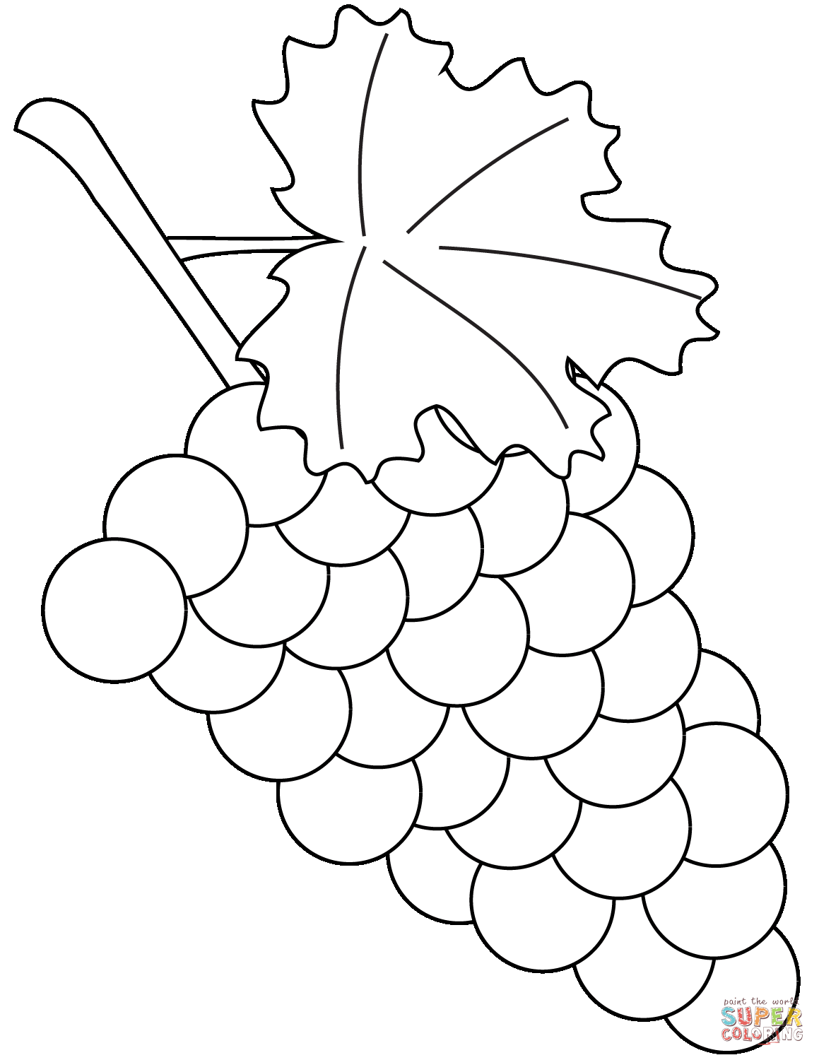 coloring picture of grapes grapes coloring page grapes clipart for coloring free grapes of coloring picture