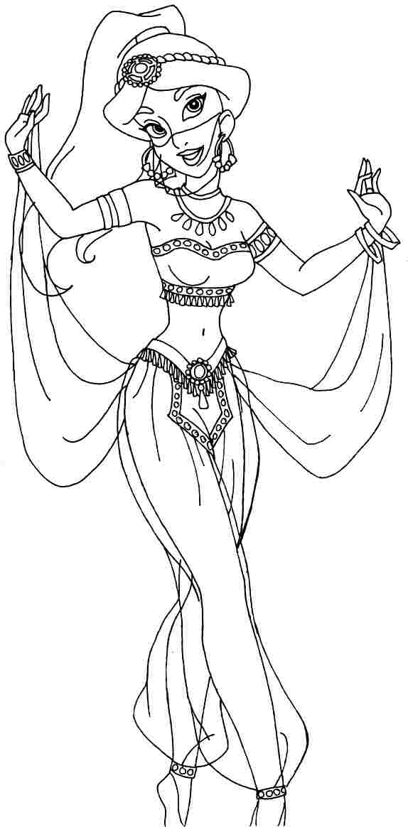 coloring picture of jasmine 8 best images of printable disney princess toddler picture coloring jasmine of