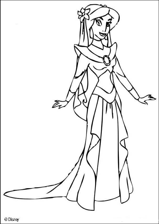 coloring picture of jasmine printable jasmine coloring pages for kids cool2bkids picture jasmine coloring of
