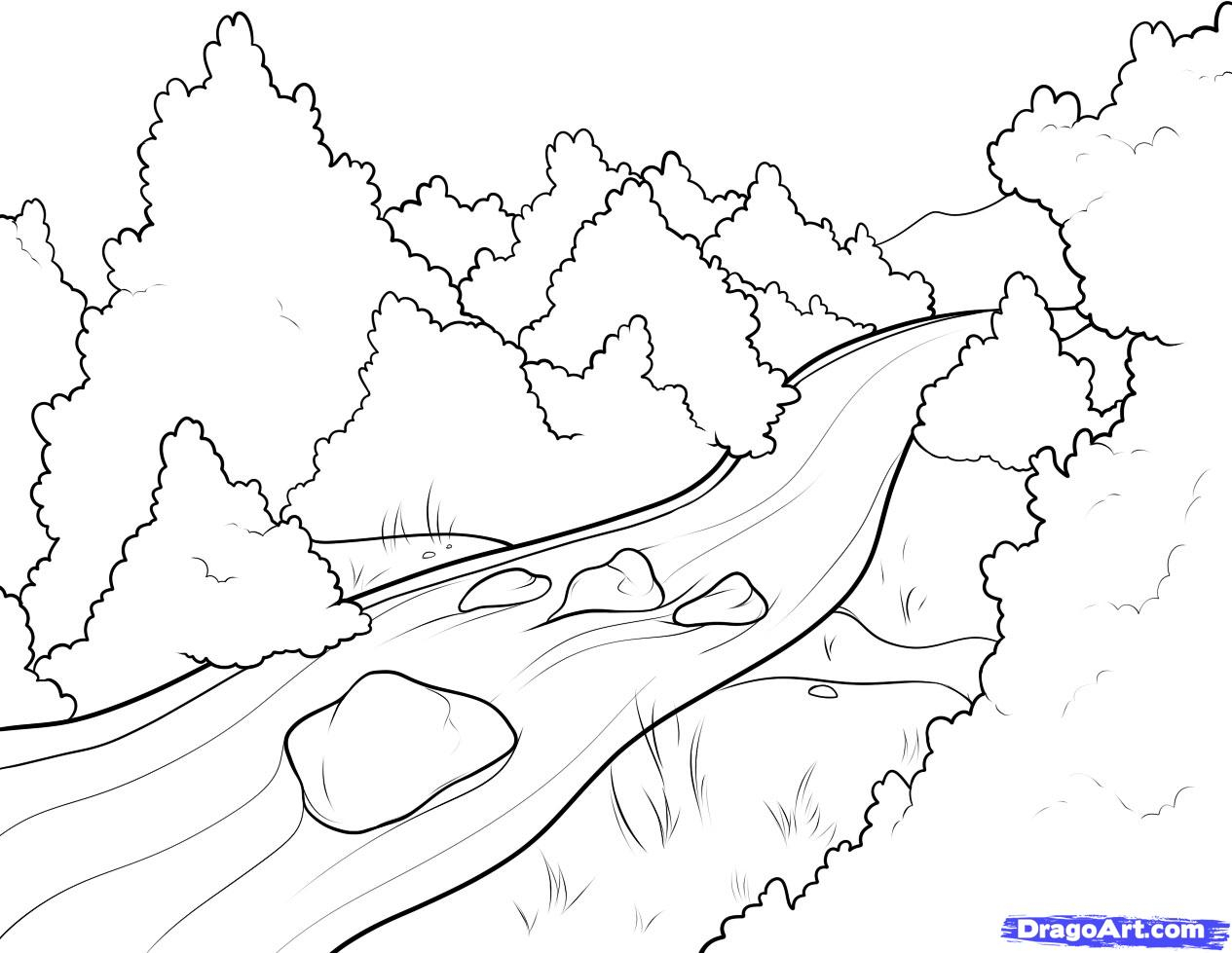 coloring picture river river coloring pages coloring pages to download and print coloring river picture