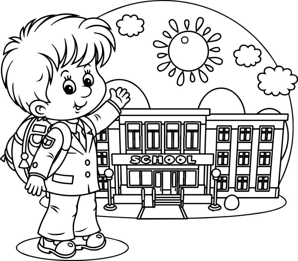coloring picture school back to school coloring pages for kids itsybitsyfuncom school coloring picture
