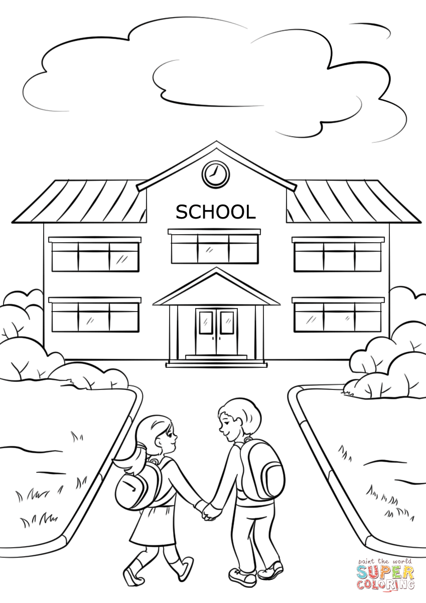 coloring picture school back to school school house coloring page picture coloring school