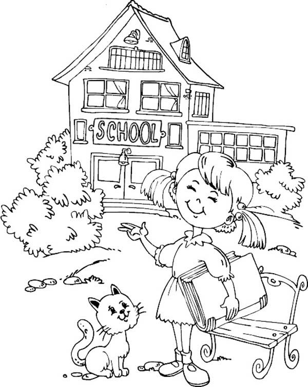 coloring picture school coloring pages school building education gt school free coloring school picture