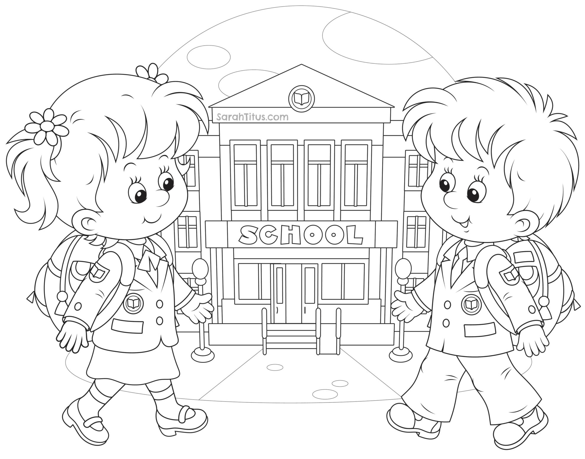 coloring picture school cute schoolhouse coloring page free clip art picture coloring school