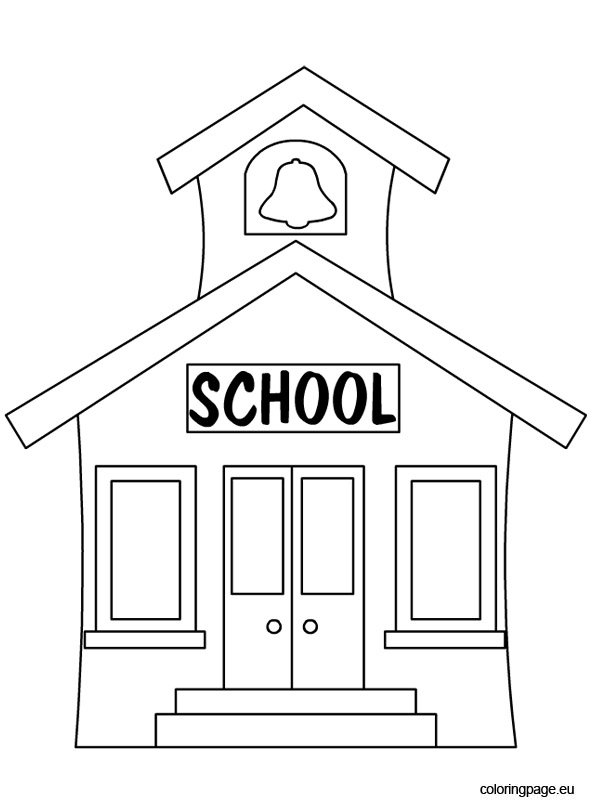 coloring picture school first day of school coloring pages getcoloringpagescom coloring school picture
