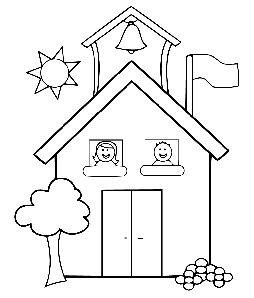 coloring picture school little want to learn at school house coloring page coloring school picture