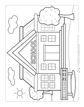 coloring picture school school building coloring pages kidsuki coloring school picture