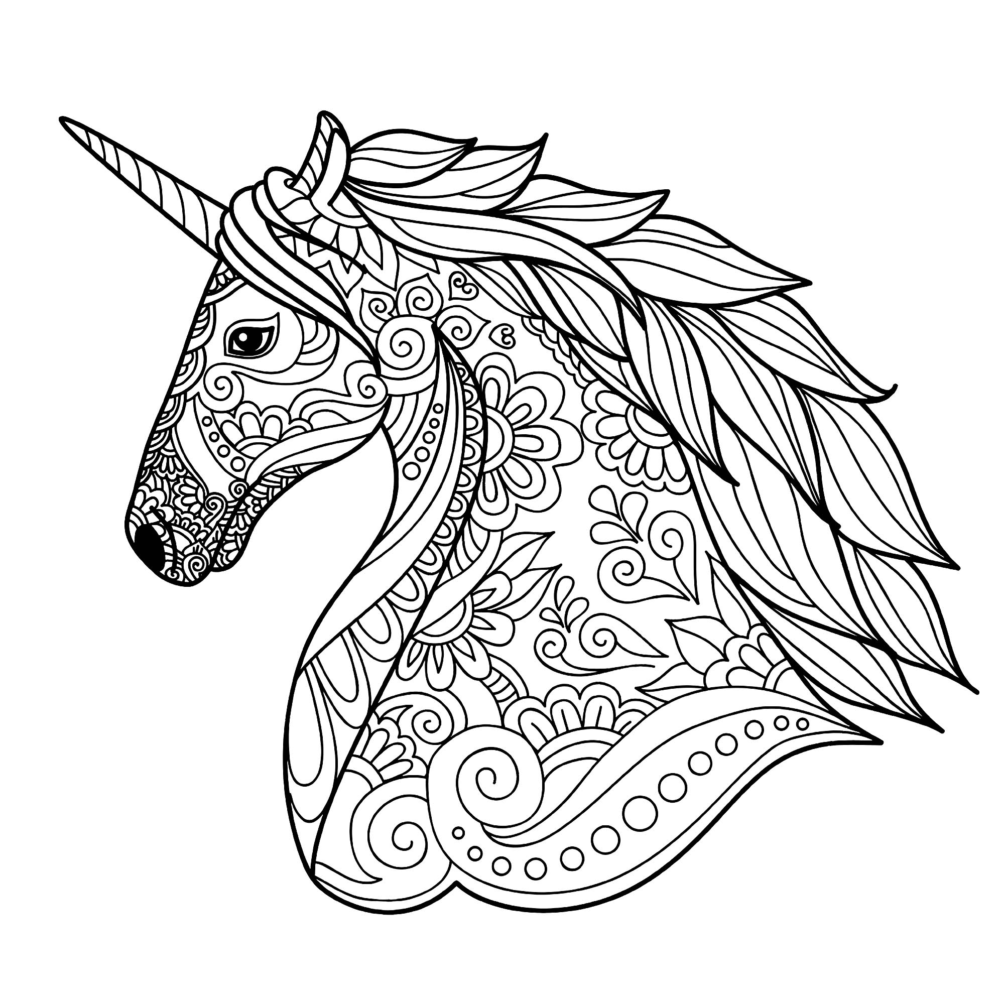 coloring picture unicorn 20 gorgeous free printable adult coloring pages page 5 coloring unicorn picture